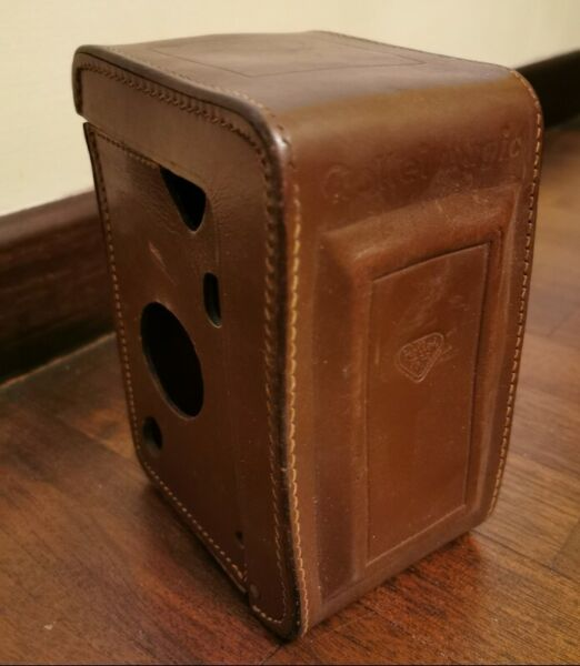 Vintage Rollei magic Camera Leather Cover Case Brown