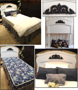 Refinished & Restored! COMPLETE, Clean 4Pc Single Bed / Twin Bed