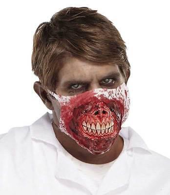Herren Unheimliche Evil Dead Blutig Zombie Doktor Maske Halloween Kostüm Neu