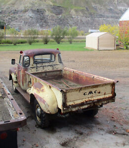 1950 5 window De Luxe cab one ton pickup truck project