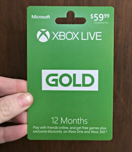 12 Month Xbox Live Gold Card