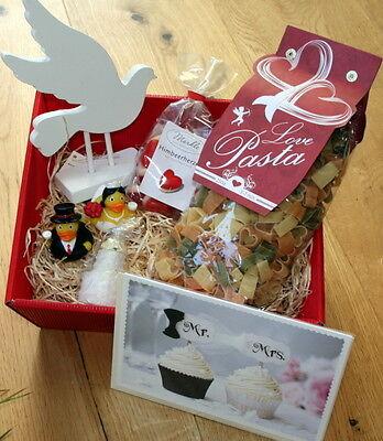 Hochzeitsgeschenke Geschenkkorb Geschenk Idee Hochzeit Geschenkideen Liebe Taube ()