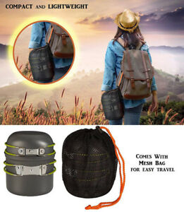 Wealers Outdoor Cookware Kit for Backpacking and Hiking