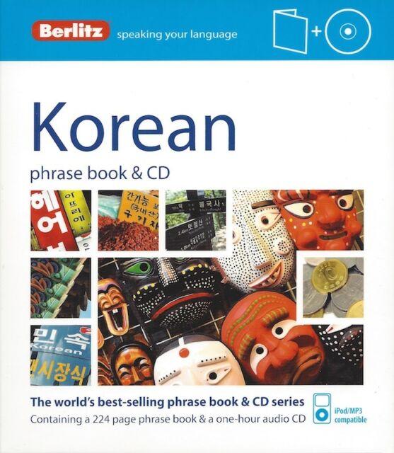 Berlitz Korean Phrase Book & CD *IN STOCK IN MELBOURNE - NEW*
