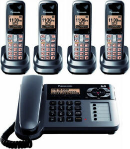 Panasonic kx-tg1061c corded phone with answering System and 4 ha