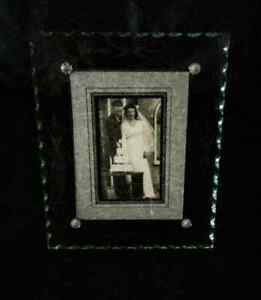 1940's Art Deco Glass Photo Picture Frame