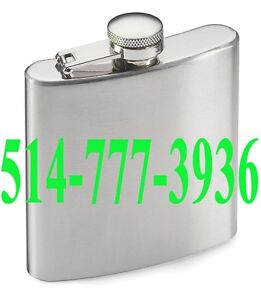 Stainless Steel Flask Flasque Flacon de poche Métal Alcool