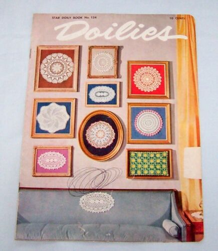 Vintage Pattern Book Crochet DOILIES Star No. 124 1955  Pineapple Thread