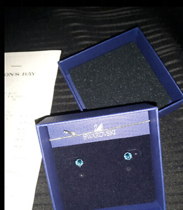 Navy Blue Authentic Swarovski Studs