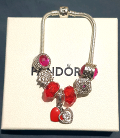 Gorgeous Bracelet Red Fire Charm brand new in box