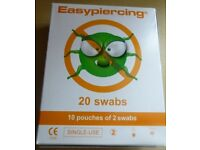 NEW * Easypiercing® STERILE SWABS x 20 in the box