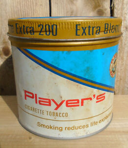 VINTAGE 1984's PLAYER'S EXTRA BLEND 200 CIGARETTE TOBACCO TIN