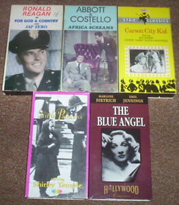 5 VHS(Video Cassette Tapes)VINTAGE MOVIES