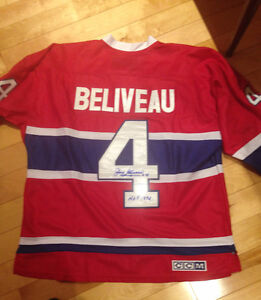 Jean Beliveau Signed Hockey Jersey with COA