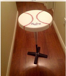 Recycled Baseball Bat Table