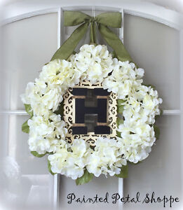 Wedding Wreath/Hydrangea Wreath/Monogrammed Wreath