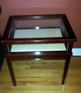 Bombay solid wooden curio display table side table end table London Ontario image 1