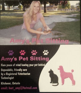 ******PET SITTING (REGISTERED VETERINARY TECHNOLOGIST)******