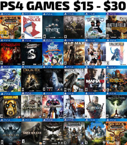 PS4 Games For Sale or Trade - $15 - $30