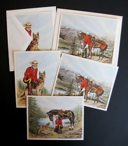 Vintage RCMP Pictorial Greeting Cards, A Peter Wright Product