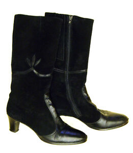 3 prs Ladies Leather Boots - Size 9, 9 1/2, 10