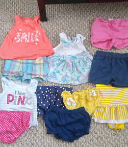 Babygirl summer clothes 6-12 months!