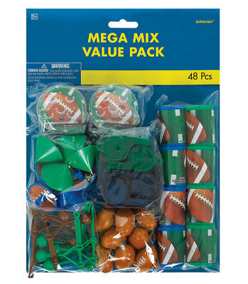 Football Party Favors (Football 48 Piece Party Favors Mega Value Pack -)