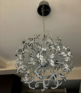 "Crystal and Chrome LED 24"" Chandelier"