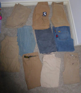 Boys' jeans, pants, size 10 and 12 years $ 3 ea
