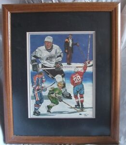 1990's Wayne Gretzky  Lithograph #/5000 Framed and Matted