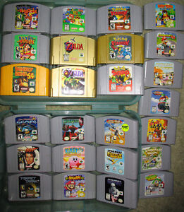 N64 Consoles, Controllers and Over 60 N64 Games. Prices are Firm