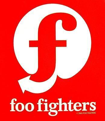"""FOO FIGHTERS AUFKLEBER / STICKER # 14 """"LOGO"""" - PVC - WETTERFEST"""