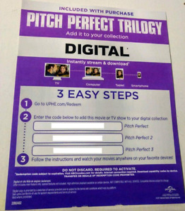 Pitch Perfect Trilogy Digital only.