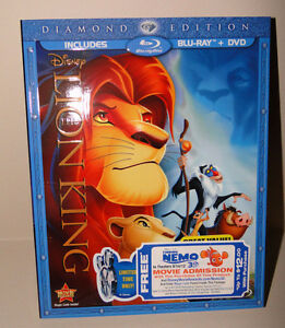 New, Sealed, Authentic Disney The Lion King Bluray and DVD $30