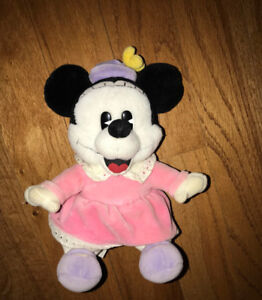 Minnie Mouse Plush Mickey babies Stuffed Animal Disney 10 Inches