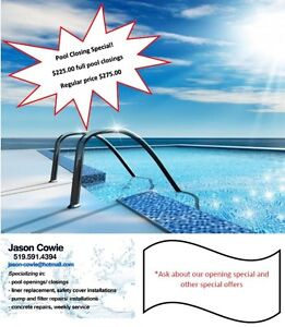 Swimming pool closings for 225 tax in Kitchener / Waterloo Kitchener Area image 1