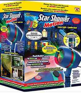 Star Shower Motion Laser Light (New in box, 4 available)