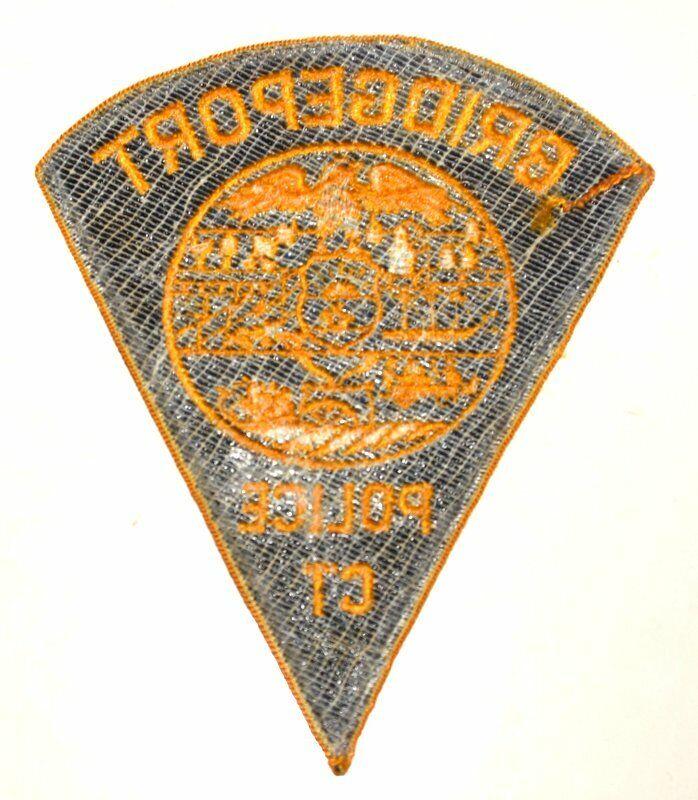 """BRIDGEPORT CONNECTICUT CT Sheriff Police Patch SHIP SUNRISE VINTAGE MESH XL 6"""" ~"""