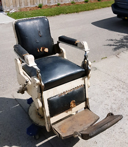 Antique Wooden Barber Chair
