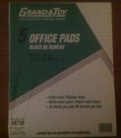 New Grand&Toy Office Pads, Pkg of 5 -  Home, School & Office