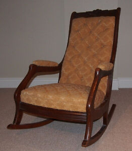 antique rocking chair upholstered buy and sell furniture. Black Bedroom Furniture Sets. Home Design Ideas