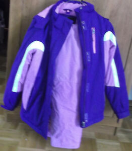 Girl's Size 10/12 2-piece Snowsuit, hat and mitts