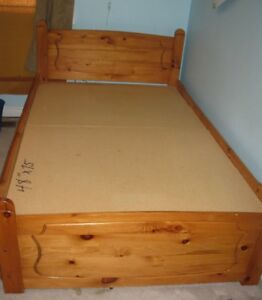 Solid Wood Three-Quarter Bed for Sale