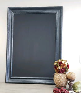 Licorice & Trigger custom frames with Chalkboard