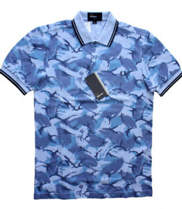 Fred Perry Camo Polo Shirt Blue Men's Sm. camouflage NEW tag