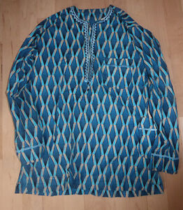 African print shirt, men's XL