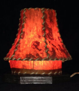 Home Made desk lamp w/Bark Shade