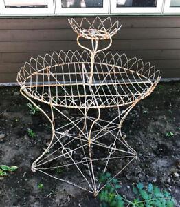 Deco jardin Epoque Victorienne fin 19e wire plant stand