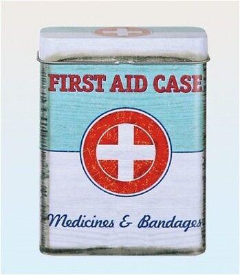 Vintage  Tin Box First Aid Case Cigarette Storage Plasters / band aid RETRO