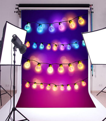 Light Bulb Party Prom Vinyl Backdrop Photography Background Props 3x5ft - Prom Background